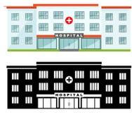 Bâtiment aimable différent d'hôpital Photo stock