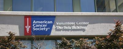 Bâtiment américain de volontaire de Belz d'Association du cancer Photo libre de droits