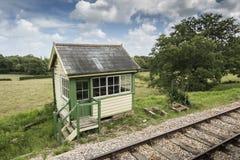 Bâtiment anglais de gare ferroviaire Image stock