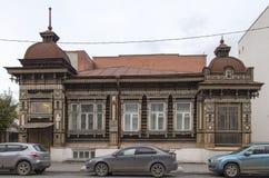 Bâtiment antique à Iekaterinbourg, Fédération de Russie image stock