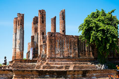 Bâtiment antique, Ayuthaya, Thaïlande image stock