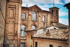 Bâtiment antique dans Corinaldo Image stock
