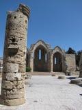 Bâtiment antique dans la vieille ville Rhodes en Grèce Images stock
