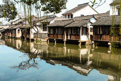 Bâtiment antique de la Chine dans la ville de Wuzhen Photo stock
