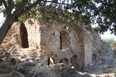 Bâtiment antique, forteresse de Qaqun, Israël Images libres de droits