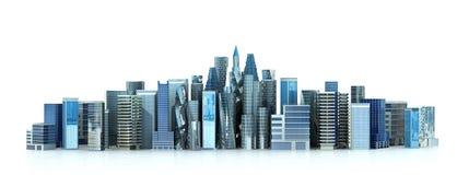 Bâtiment architectural dans la vue panoramique Images libres de droits