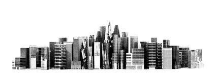 Bâtiment architectural dans la vue panoramique Photos libres de droits
