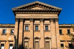 Bâtiment australien de musée sur la rue d'université, Sydney images libres de droits