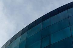 Bâtiment avec le ciel sur le fond Photo stock