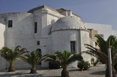 Bâtiment blanc de Cadix Photos stock