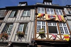 Bâtiment bois de construction-encadré médiéval images stock