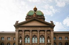 Bâtiment capitale suisse du parlement dans la vieille ville Berne, Suisse image stock