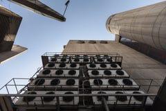 Bâtiment central de bureau de poste conçu dans le style de brutalist Photos stock