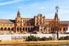 Bâtiment central de Plaza de Espana Photographie stock