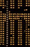 Bâtiment chaud de lumière de nuit Images libres de droits