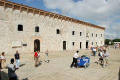 Bâtiment colonial des maisons Reales de Las à Saint-Domingue Images stock