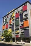 Bâtiment coloré à Québec Photographie stock libre de droits