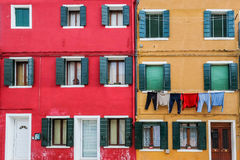 Bâtiment coloré, île de Burano, Venise, Italie Images stock