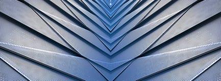 Bâtiment contemporain de détail architectural en aluminium photo stock