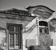 Bâtiment décadent au Portugal photo stock