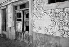 Bâtiment décadent Pékin, photo noire et blanche de la Chine image libre de droits