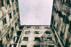 Bâtiment délabré Aucune personnes Photo libre de droits
