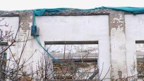 Bâtiment détruit, logement dans le délabrement, démolition de la maison banque de vidéos