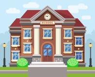 Bâtiment d'école ou d'université Concept plat d'éducation de vecteur illustration de vecteur