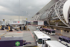 Bâtiment d'aéroport de Bangkok Photo libre de droits