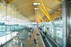 Bâtiment d'aéroport de Madrid Barajas Image libre de droits