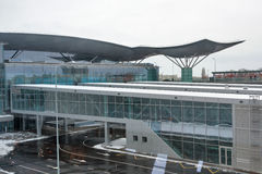 Bâtiment d'aéroport international de Boryspil Kiev, Ukraine Images libres de droits