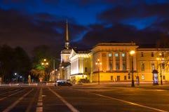 Bâtiment d'Amirauté dans le St Petersbourg Images libres de droits