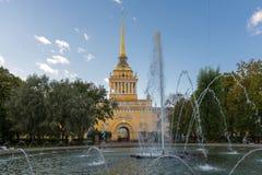 Bâtiment d'Amirauté dans le St Petersbourg Photos stock