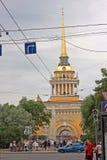 Bâtiment d'Amirauté et perspective de Nevsky dans le St Petersbourg russ Images libres de droits