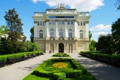 Bâtiment d'ancienne bibliothèque universitaire de Varsovie, Pologne Images stock
