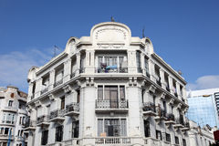 Bâtiment d'Art Deco à Casablanca photographie stock