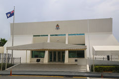 Bâtiment d'Assemblée législative des Îles Caïman chez Grand Cayman Images libres de droits