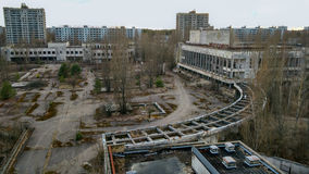 Bâtiment d'Energetik dans Pripyat Image stock
