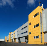 Bâtiment d'entrepôt, station d'accueil de remorque Images stock