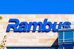 Bâtiment d'entreprise de QG de Rambus image stock