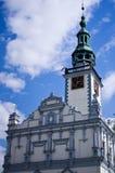 Bâtiment d'héritage de centre de ville de Chelmno Pologne images stock