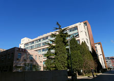 Bâtiment d'hôpital de Tiantan Image stock