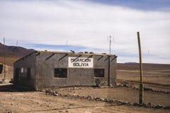 Bâtiment d'immigration du désert d'Atacama en Bolivie photographie stock libre de droits