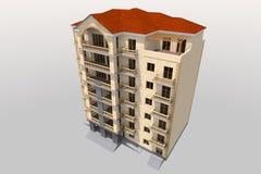 bâtiment 3D résidentiel Images libres de droits