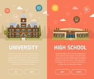 Bâtiment d'université et de lycée Image libre de droits
