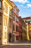 Bâtiment dans la vieille ville de Varsovie La destination de voyage de la Pologne images stock