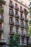 Bâtiment dans le style de Modernisme au centre de la ville à Barcelone photo stock