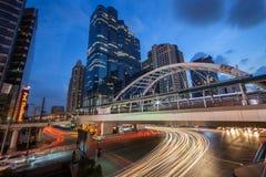 Bâtiment de Bangkok Sathorn Images libres de droits