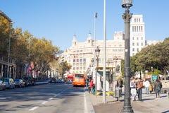 Bâtiment de Barcelone Image libre de droits