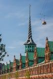 Bâtiment de bourse des valeurs d'anciennes actions à Copenhague photos stock